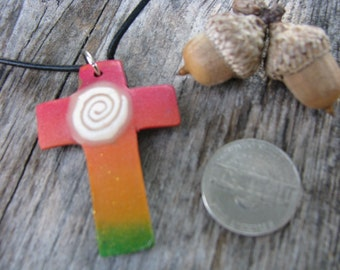 rainbow cross polymer clay adjustable