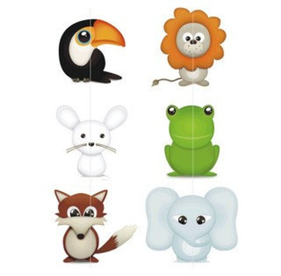 Items Similar To Zoo Animals Clip Art Set Of 6 Cute Baby