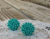 Turquoise Dahlia Earrings