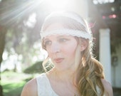 Something New.. A Modern Style Lace and Netting Birdcage or Blusher Veil - Bridal, Wedding