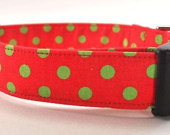 Dots in Green - Polka Dot Dog Collar
