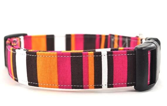 The Margo - Striped Dog Collar
