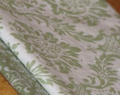 SALE Cloth Napkins Set of 4 - Green Damask SALE