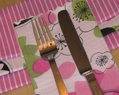 SALE Cloth Napkins - Set of 4 Pretty in Pink SALE