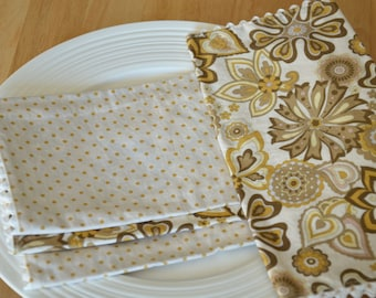 SALE Cloth Napkins (Set of 4):  Retro Garden
