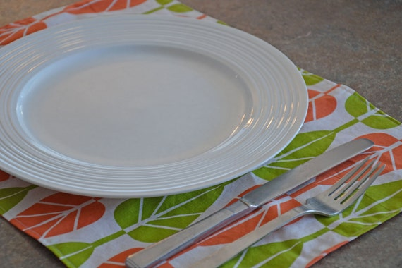 Placemats - Set of 6 Bright Leaves