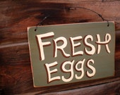 Hand Painted Fresh Eggs Sign