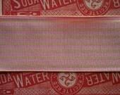 Pink and Cream Stripe Grosgrain Ribbon