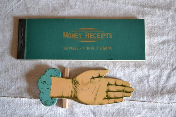 Vintage Book of Money Receipts
