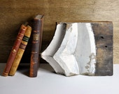 Vintage Architectural Salvage Wood Pediment Fragment