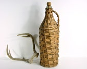 Vintage Willow Wrapped Wine Bottle