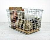 RESERVED - Ten Vintage Metal Baskets / Industrial Storage / Metal Locker Baskets
