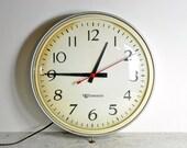Vintage School Wall Clock / Industrial Clock