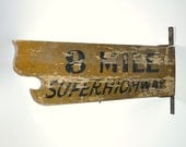 Vintage Wood Advertising Sign