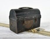 Vintage Metal Lunch Box / Industrial Decor