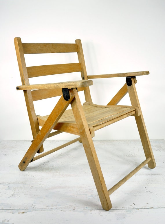 Vintage Child s Wood Folding Chair by HavenVintage on Etsy