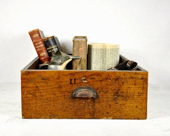 Antique Large Rustic Shop Drawer