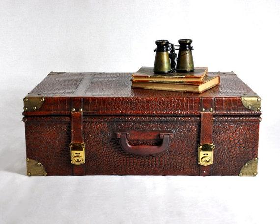Faux Alligator Suitcase
