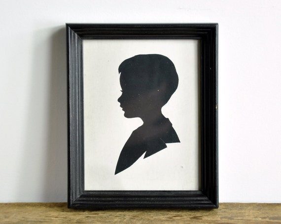 Vintage Sillhouette of a Boy