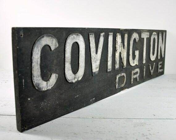 RESERVED - Vintage Wood Sign / 1920's Detroit Street Sign