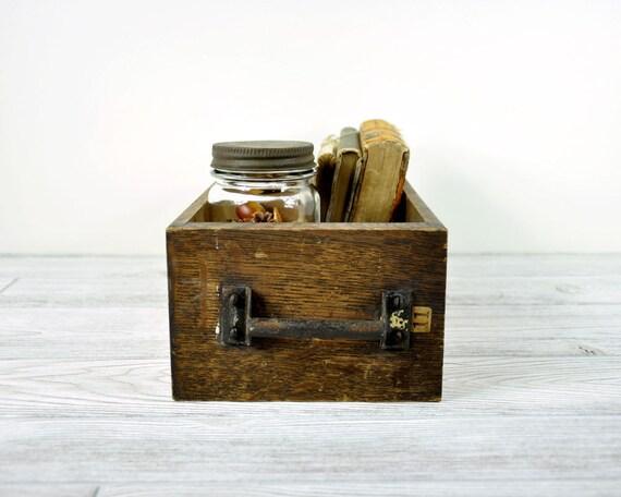 Vintage Wood Drawer / Industrial Storage / Wooden Box