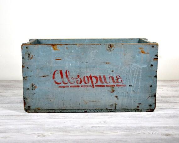 Vintage Wood Crate / Wood Box / Industrial Storage