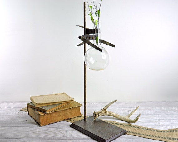 Vintage Industrial Laboratory Stand / Industrial Decor