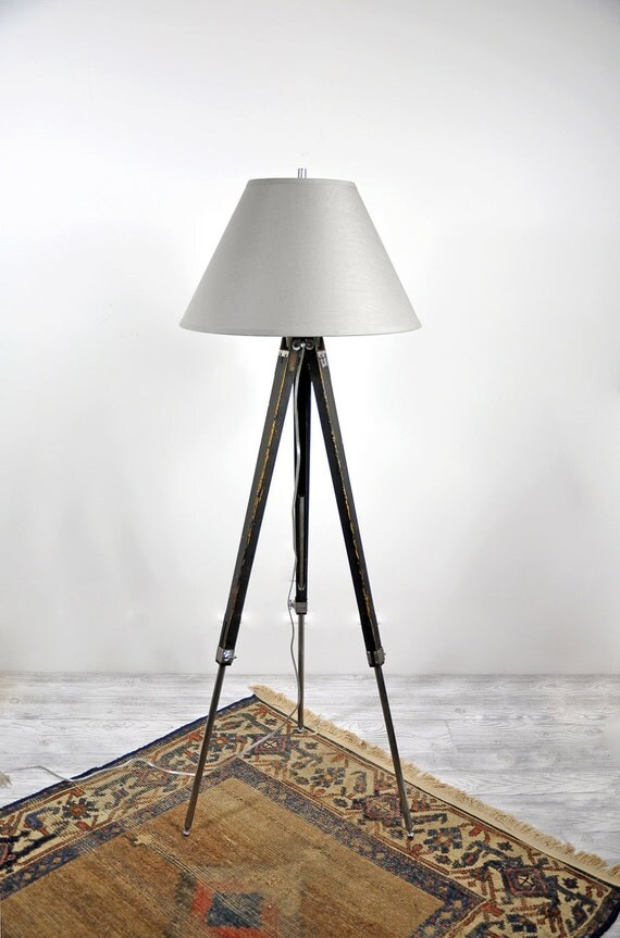 Vintage Industrial Surveyors Tripod Floor Lamp / Industrial Decor