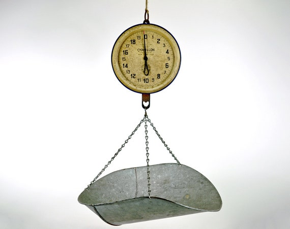 Vintage Chatillon Industrail Hanging Scale / Industrial Decor