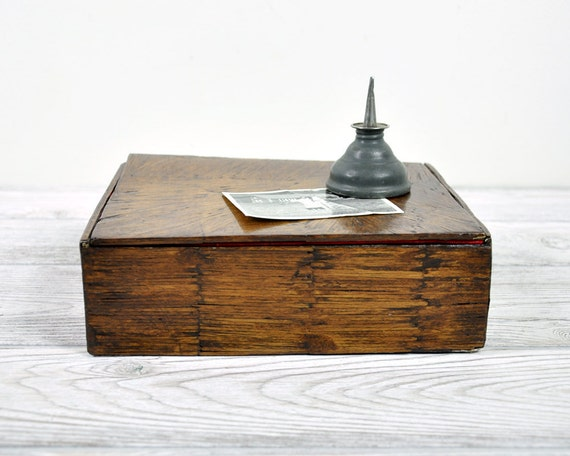Vintage Folk Art Toothpick Covered Cigar Box
