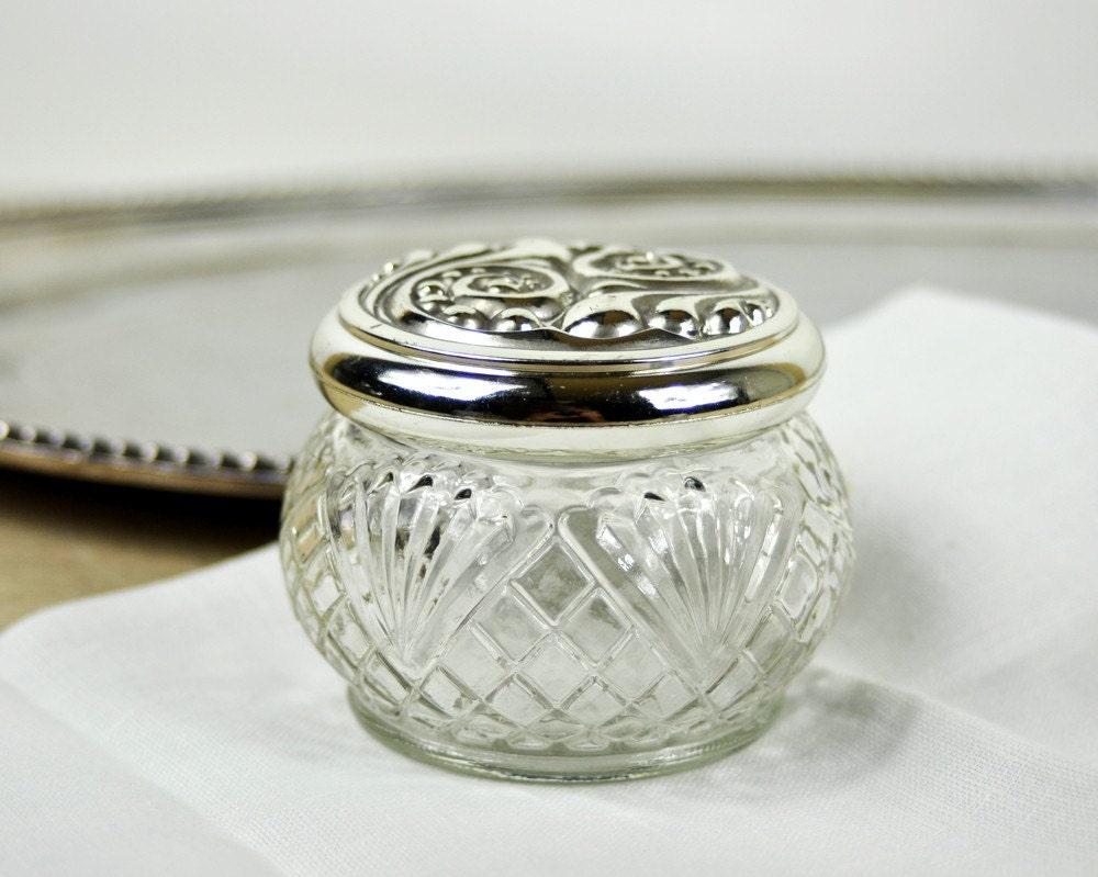 Vintage cut glass and decorative jars for Designer glass jars