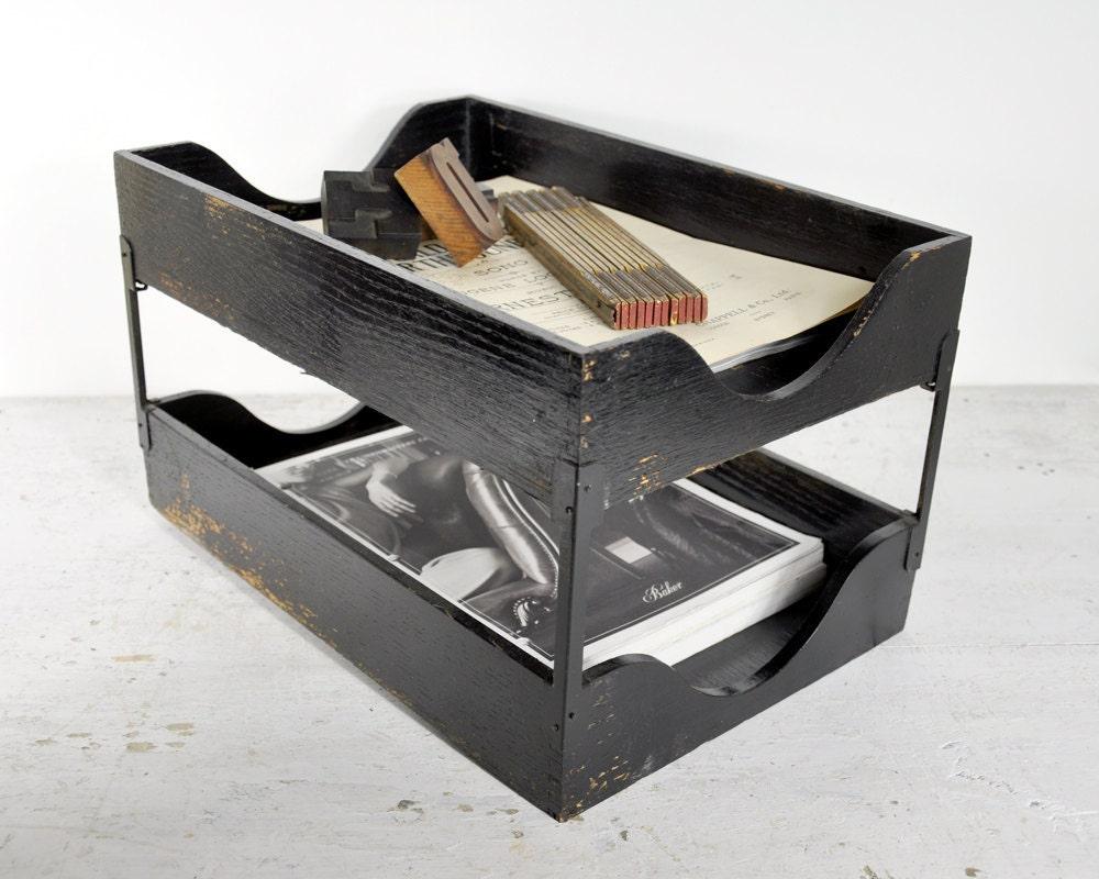 Vintage Mid Century Desk Trays Desk Accessories