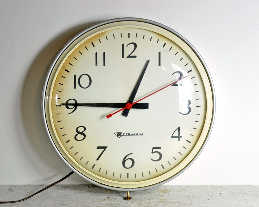 Vintage School Wall Clock Industrial Clock