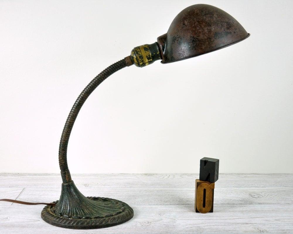 Vintage Industrial Desk Lamp Industrial Decor by