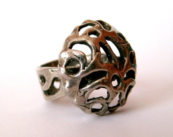 Modernist Dome Ring