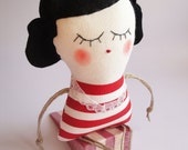 Old fashioned Lady doorstop - Handmade in Italy -