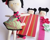 Child friendly Doll Set for kids -  Handmade in Italy