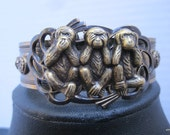 Vintage Style Cuff-Three Wise Monkeys