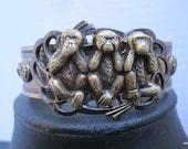 Vintage Style Cuff-Three Wise Monkeys