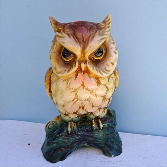 SALE Vintage Owl Ceramic Bank Wonderful