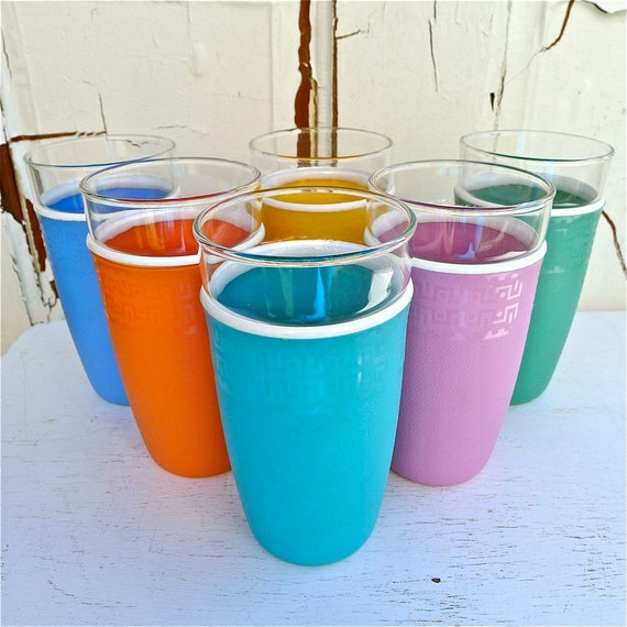 Vintage Nile Cryst-O-Therm Tumblers 1950's Set of 6
