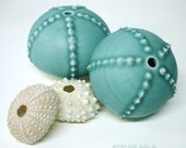 Turquoise Porcelain Sea Urchin Bud Vase/Oil Candle or not
