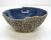 Pottery Geode Bowl Irregular large Avant Garde Handmade Ceramics IN STOCK Shabby Chic Home Decor