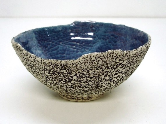 Pottery Geode Bowl Irregular large Avant Garde Handmade Ceramics IN STOCK Shabby Chic Home Decor