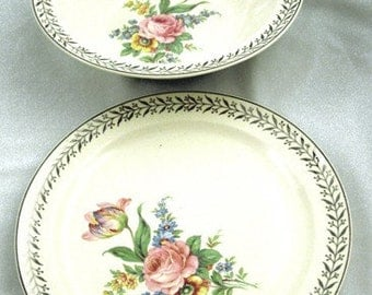 Taylor Smith And Taylor Plate & Large Vegetable Bowl