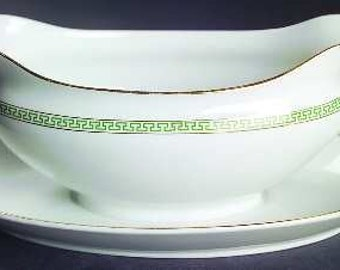 Vintage Noritake Gravy Boat W/Attached Underplate-Mystery 118