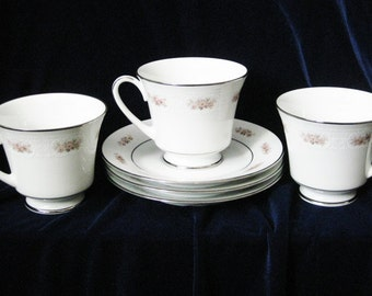 Vintage Noritake Glenaire Tea Cups And Saucers(6)
