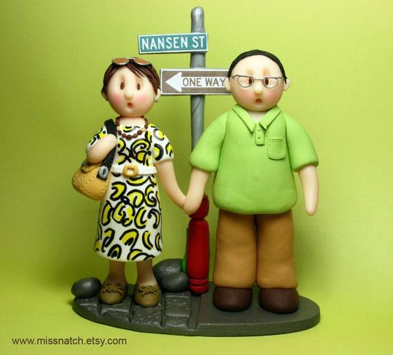DEPOSIT - Custom Lovely Couple Figurine Cake Topper and Keepsake