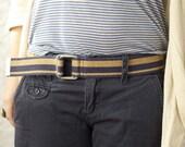 MOVING SALE- 1970s Navy Stripe Vintage Belt  XS/S