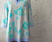 Vintage 1970s Psychedelic Lounge Tunic by Lorraine - S/M